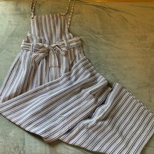 Jumpsuit pinafore dungaree blue stripe new w/ tags
